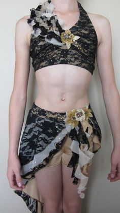 Custom Made Lyrical Contemporary Dance Competition Costume Size Adult XS