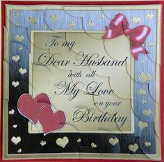 8 X Husband Birthday Kit With Scalloped Corners BirthdayCard Making