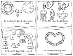 7 days of creation story boards and coloring sheets a fair