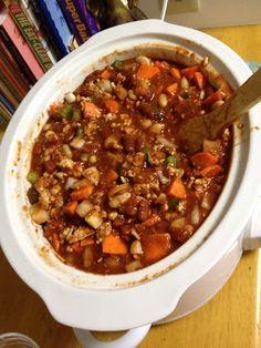 Clean recipe for Turkey chili in the crock pot!