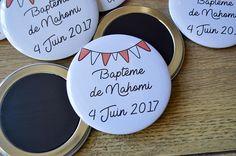 Lot de 10 Magnets aimantés ronds 75 mm pour baptême