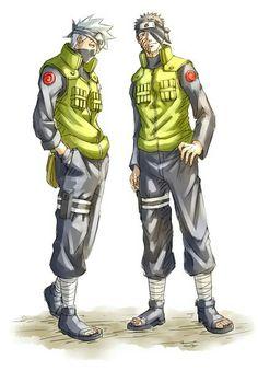 Kakashi & Obito Kakashi And Obito, Naruto, Awesome Anime, Anime Style, Joker, Manga, Random, Fictional Characters, Manga Anime