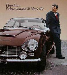 Marcello Mastroianni, a keen Lancia amateur.