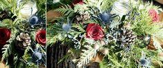 Traditional holiday centrepiece with mason jar candle @botanystudio