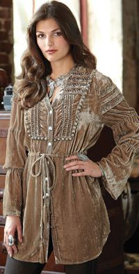 Double D Ranch Tayanita Velvet Tunic from Crows Nest Trading