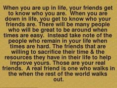 True friends are hard to find now a days. Extremely thankful for the few that are around!