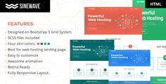 Sinewave – One Page Hosting Landing Page HTML Template Sinewave is a One Page Hosting Landing Page HTML Template with very Modern and Clean Design built on bootstrap 3 grid system. It is perfect Ch...
