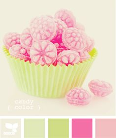 Pink and green. One of my favorite color combinations Colour Pallette, Colour Schemes, Color Patterns, Color Combinations, Pink Palette, Design Seeds, Candy Colors, Colorful Candy, Colour Board