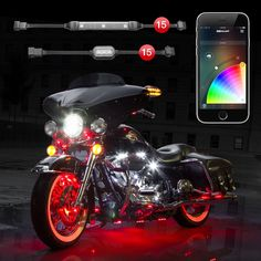 Led Light Strips For Motorcycles 10 Pod 8 Strip 2Nd Gen Xkchrome App Control Motorcycle Advanced Led