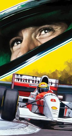Ayrton Senna Art Print featuring the painting Ayrton Senna Artwork by Sheraz A – Sport is lifre Grand Prix, Aryton Senna, E Motor, Mclaren Cars, Gilles Villeneuve, Formula 1 Car, F1 Racing, Drag Racing, Racing Helmets