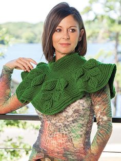 embossed crochet capelet by Bonita Patterns