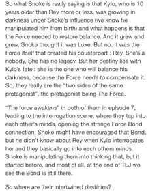 This is a very cool way to interpret these past 2 star wars movies, the force being the protagonist. Reylo, Kylo Rey, Anakin And Padme, Rey Star Wars, Star Wars Ships, If You Love Someone, The Force Is Strong, Bad Feeling, Star Wars Humor