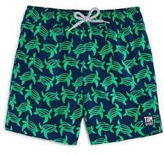 c0197d8f84 TOM & TEDDY Boys' Turtle Print Swim Trunks - Big Kid Kids - Bloomingdale's