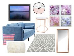 """""""Blue and grey forever in love!"""" by slizausaba on Polyvore featuring interior, interiors, interior design, home, home decor, interior decorating, Dot & Bo, Bloomingville, New Look and Mina Victory"""