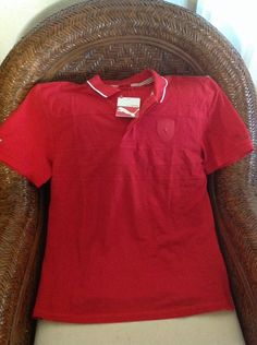 Ferrari scuderia Ferrari puma RED polo shirt New With Tags size L mens in Clothing, Shoes & Accessories, Men's Clothing, Coats & Jackets   eBay