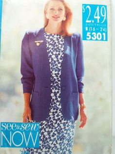 Butterick 5301 Sewing Pattern  Misses' Unlined by WitsEndDesign, $6.00