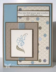 Embellished Paper: Soft Sympathy, thanks for caring, stampin up
