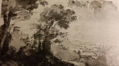 LANDSCAPE STUDY WITH NARCISSUS. pen and brown wash. 11,5 × 17,7 cm. London. British Museum. Inv. No. Oo. 6 - 68. ( MRD 548 ).