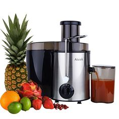 Amazon.com: Aicok Juice Extractor, Juicer Centrifugal Fruit Machine with Juice Jug and Cleaning Brush, Stainless Steel: Kitchen & Dining