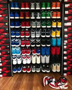 Sneaker head closet Sneakers Sneakers men fashion Sneakers wallpaper Sneaker closet Shoes - When you got 1 love - storage sneakerhead room Zapatos Nike Jordan, Zapatillas Jordan Retro, Me Too Shoes, Women's Shoes, Shoes Sneakers, Sneaker Storage, Streetwear, Shoe Room, Shoe Closet