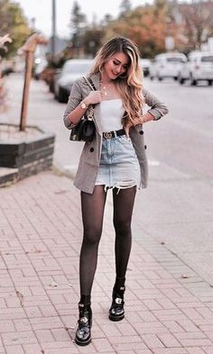 Vista o Look Cute Casual Outfits, Girly Outfits, Mode Outfits, Stylish Outfits, Trendy Fall Outfits, Winter Fashion Outfits, Fall Winter Outfits, Look Fashion, Autumn Fashion