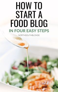 How to Start a Food Blog: A beginners guide to starting a food blog in only four easy steps! Start a blog from scratch using WordPress and a self hosted website and turn your dream into reality. WordPress.org | Self Hosted Website | Food Blog | Recipe Share | WordPress Plugins | Make Money From Home | Work From Home | Earn an Income | Make Money Blogging | Blogging Tips |    Step By Step | Beginners Guide | Bluehost | Food Themes | Food Blogs | Wordpress Org, Wordpress Plugins, Healthy Recipes For Weight Loss, Clean Eating Recipes, Make Money Blogging, How To Make Money, Love Food, A Food, Recipe Share