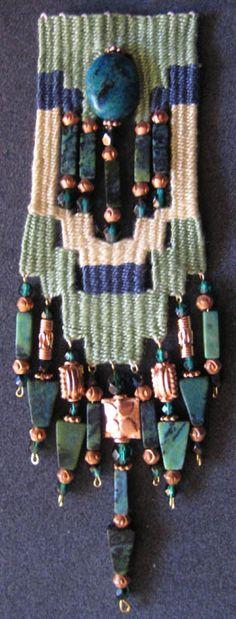 Flickr Pin Weaving, Tapestry Weaving, Fiber Art Jewelry, Jewelry Art, Jewellery, Soutache Jewelry, Beaded Jewelry, Macrame Necklace, Textiles