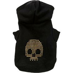 Petco Wag-a-tude Studded Skull Dog Hoodie at PETCO