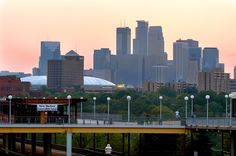 Love going to school in Minneapolis. I get to see the skyline everyday through my kitchen window. Minneapolis Skyline, Minneapolis St Paul, Minneapolis Minnesota, Miss Minnesota, University Of Minnesota, Modern City, Twin Cities, San Francisco Skyline, Great Places