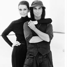 Audrey Hepburn with photographer Steven Meisel. Photograph of Audrey Hepburn by Steven Meisel for Vanity Fair, 1991.