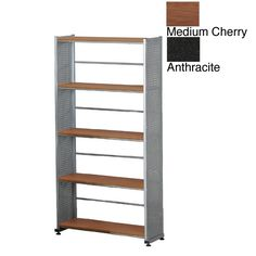 With a clean, modern design, this five-shelf office bookcase is an attractive and professional piece of organizational furniture. Solidly constructed from heavy-duty steel, these shelves will be reliable and sturdy for many years to come.