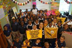 Pittsburgh Steeler Antonio Brown visited Urban Pathways K-5 College Charter School last week. #Pittsburgh #Steelers #AntonioBrown