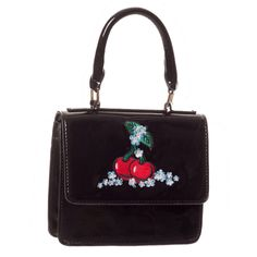 Beautiful Banned Apparel cherry motif handbag! Available online now -->  http://www.claireabellascloset.co.uk/component/hikashop/product/1161-banned-apparel-small-cherry-handbag?Itemid=126