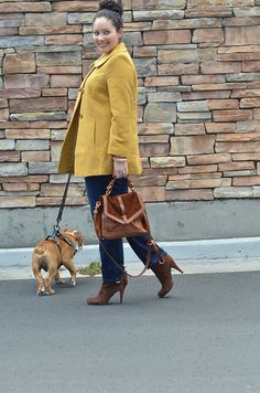{Wearing} Chadwicks Coat / Forever 21 Top / Forever 21 Necklace / Banana Republic Ring / Satchel thanks to Tory Burch / Jeans thanks to c/o James Jeans / Nine West Booties via Nordstrom