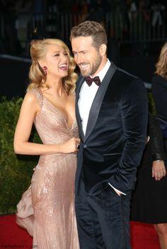 Blake Lively and Ryan Reynolds at 2014 MET Gala.