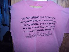 Take nothing but footprints TSHIRT by Cavernkim on Etsy, $12.50