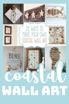 "If you love that coastal look for your home, then consider this round up your ""beach paradise"" of inspiration! #coastaldecor #coastalwallart #beachhome #beachhouse #beachdecor #homedecor #diyhomedecor #beachcrafts #craftsbyamanda"