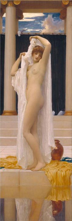 The Bath of Psyche, by Frederic Leighton - c.1890 - United Kingdom - Academicism