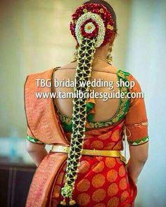 New bridal saree south indian gold 62 ideas South Indian Wedding Hairstyles, Bridal Hairstyle Indian Wedding, Bridal Hairdo, Indian Bridal Makeup, Indian Hairstyles, Bride Hairstyles, Saree Hairstyles, Asian Bridal, Bridal Beauty