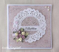 Ruth's lille blog: Bryllupskort