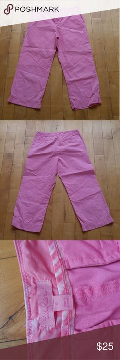 Lilly Pulitzer pink capris Great condition No flaws Lilly Pulitzer Pants Capris