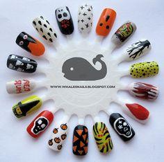 Halloween Nail Art Wheel