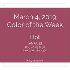 "Your Color of the Week and forecast for the week of March 4, 2019. If you've had trouble tapping into your ""why"", this week's energy is here to support you."