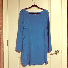 Backless blue dress - t-shirt/soft material Backless - soft - bright blue Porridge Dresses
