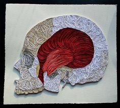 Quilled Paper Anatomy by Sarah Yakawonis http://yakawonis.blogspot.com/