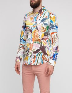 """robin cameron crayon drawing dress shirt white via soletopia - """" I know what I like and LOVE THE SHIRT"""" i could look at this shirt on me all day in the mirror."""