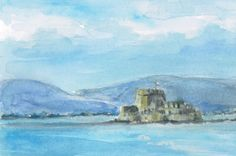 Nafplio, Greece - Amy Barnett watercolors