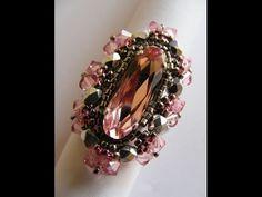 Кольца из бисера и кристаллами Swarovski  ручной работы.