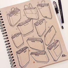 I finally got back to finishing my next bag design over the snowy weekend. #idsketching #industrialdesign #productdesign #sketch #sketchbook #sketching #design #drawing #art #bag #fashiondesign by reidschlegel
