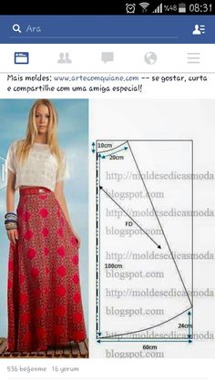 Check Out These Outstanding DIY Skirt Ideas and How to do them! - Explore Trending : Check Out These Outstanding DIY Skirt Ideas and How to do them! Diy Clothing, Sewing Clothes, Dress Sewing Patterns, Clothing Patterns, Skirt Patterns, Skirt Sewing, Pattern Skirt, Fashion Sewing, Diy Fashion